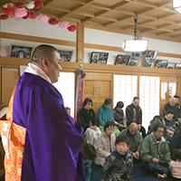 京田辺市 法華寺でのイベント 法要